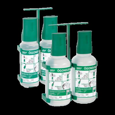 Sterisol Ögondusch, bärbart ställ – 5 paket x 2 styck 1 liter flaskor och skylt