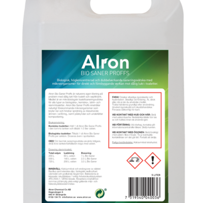 Bio Sanér toalettsaneringsvätska – 1 x 1000 liter