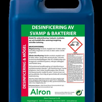 Desinficering av Svamp och Bakterier – 3 x 5 liter