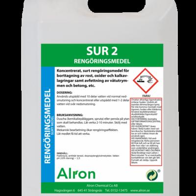 Sur 2 mellanstark rengöringsmedel – 3 x 5 liter