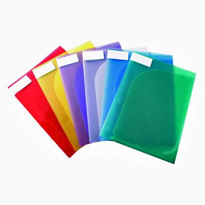 Plastmapp Dubbelficka – A4 i olika färger