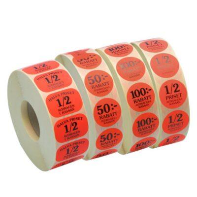 Lasertoner och etiketter